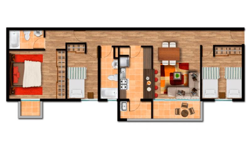 villa-el-estero---etapa-ii:-departamento-torre-a-depto-arrayan-74,86-m2