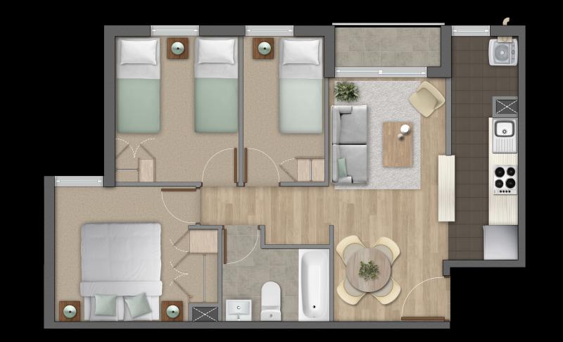 condominio-parque-al-volcán-modelo-3b