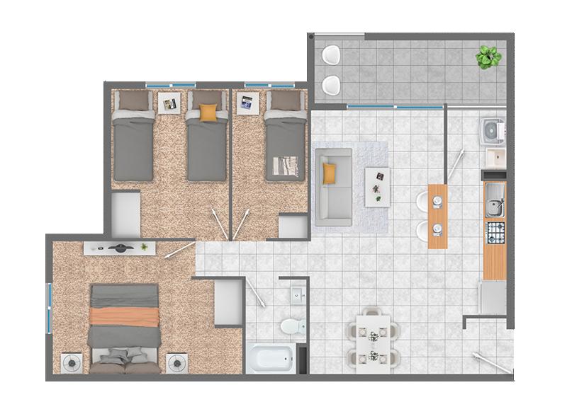 condominio-piedra-de-montaña-planta-3d+1b