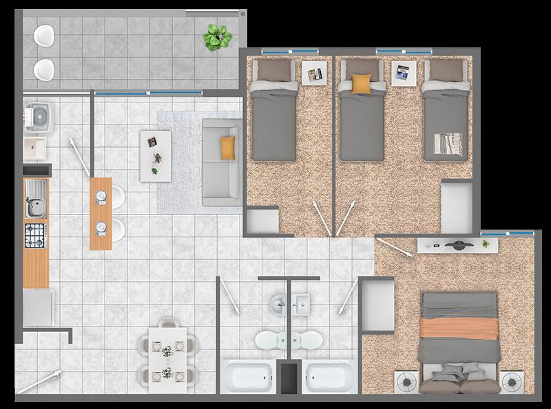 condominio-piedra-de-montaña-planta-3d+2b