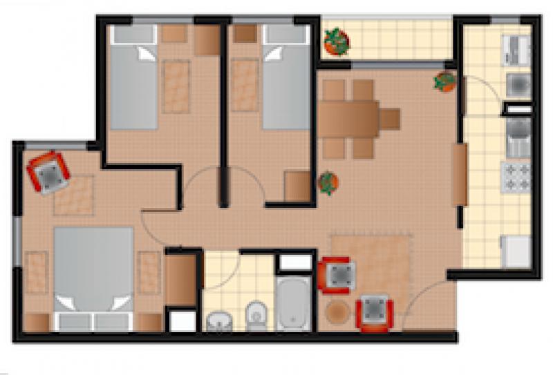 condominio-alto-durand-iii-tipo-3d+1b-58m2