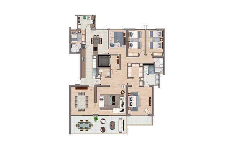 condominio-terralta-los-dominicos-las-condes---departamentos-tipo-f21,-f31,-f41,-g21,-g31-y-g41