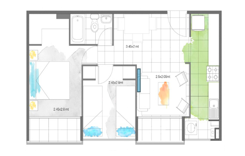 condominio-santa-maría-modelo-42-cocina-cerrada