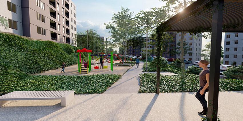 Proyecto Barrio Universitario Curauma de Inmobiliaria Comosa-3