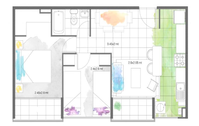 condominio-santa-maría-modelos-42-cocina-abierta