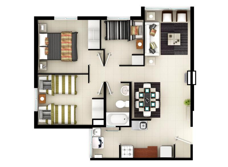 condominio-vista-norte-depto-56m²-tipo-b