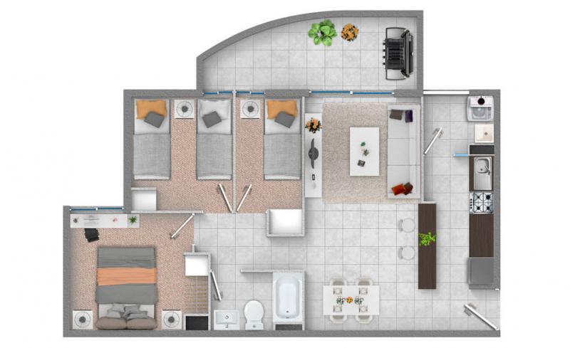 condominio-los-aromos-planta-3d+1b