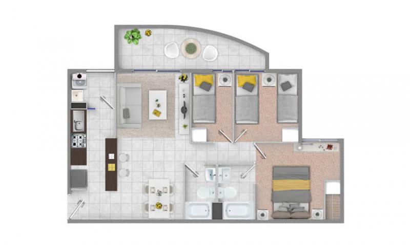 condominio-los-aromos-planta-3d+2b