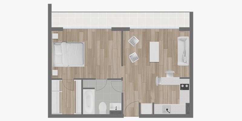 espacios-pucón-1-dormitorio