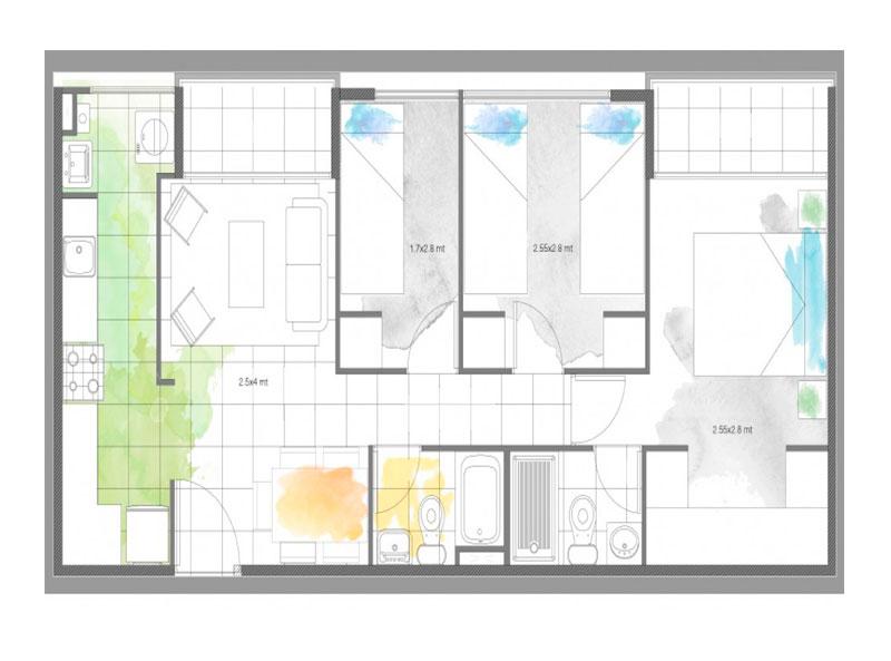 condominio-santa-maría-modelo-51-cocina-cerrada